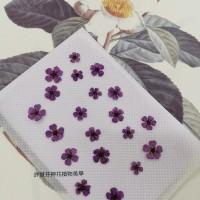 小手球-紫色正面-押花花材