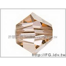 5301施華洛角珠362-3mm淺蜜桃石1包-50個