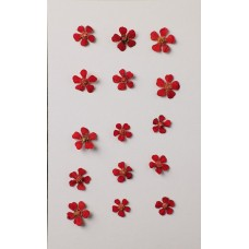 羽毛花-紅色-押花花材