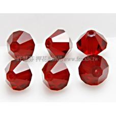 5301施華洛角珠紅色6mm-30個