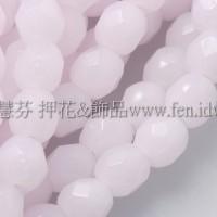 捷克棗形珠4mm粉紅蛋白-50個