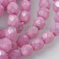 捷克棗形珠4mm紫粉紅蛋白-50個