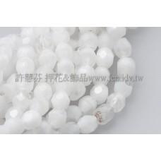 捷克棗形珠3mm水晶-白色混和-50個