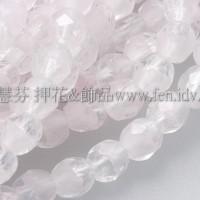 捷克棗形珠3mm水晶-粉紅色混和-50個