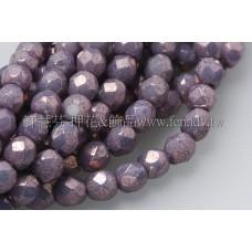 捷克棗形珠3mm-閃亮不透明亮彩紫色-50個