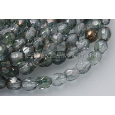 捷克棗形珠3mm水晶-綠色混和-50個