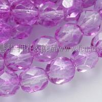 捷克棗形珠6mm紫桃紅色-20個