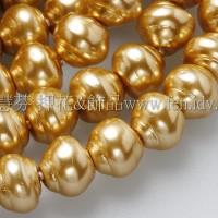6*7mm捷克水晶珍珠-螺旋圓_金色