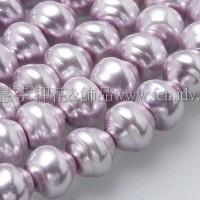 6*7mm捷克水晶珍珠-螺旋圓_紫丁香色