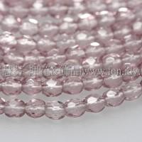 捷克棗形珠3mm閃亮紫水晶色-50個