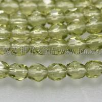 捷克棗形珠3mm明綠色-50個