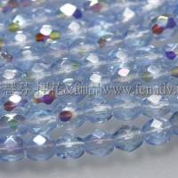 捷克棗形珠3mm閃亮寶藍色-50個
