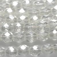 捷克棗形珠3mm閃亮透明水晶-50個