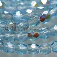 捷克棗形珠3mm閃亮海寶藍色-50個