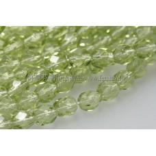 捷克棗形珠4mm萊姆綠-50個
