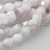 捷克棗形珠4mm白紫薰衣草-50個