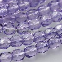 捷克棗形珠4mm閃亮暗蘭花紫-50個