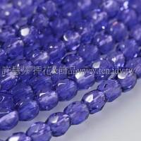 捷克棗形珠4mm閃亮紫羅蘭色-50個
