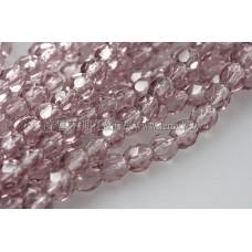 捷克棗形珠4mm紫水晶色-50個