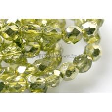 捷克棗形珠6mm閃亮黃檸檬綠-20個