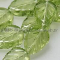 8X10mm捷克玫瑰葉形珠-嫩葉綠-10個