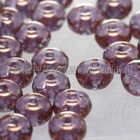 3X5mm捷克車輪珠-紫紅水晶-10個