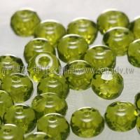 3X5mm捷克車輪珠-草綠色-10個
