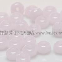 3X5mm捷克車輪珠-蛋白粉紅-10個