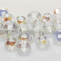 3X5mm捷克車輪珠-晶亮水晶色-10個