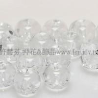 4X6mm捷克車輪珠-透明水晶色-10個