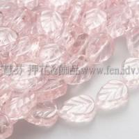 8X10mm捷克玫瑰葉形珠-玫瑰中桃紅色-10個