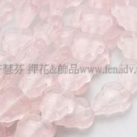 10x12mm捷克葡萄葉形珠-霧面玫瑰中桃紅色-10個