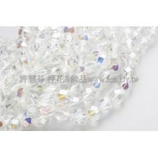 捷克棗形6mm閃亮透明水晶-20個