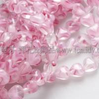6X6mm捷克小愛心形珠-水晶粉紅-50個