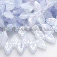 5x10mm捷克紫薇葉形珠-天藍紫水晶-20個