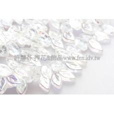 5x10mm捷克紫薇葉形珠-閃亮透明水晶-20個