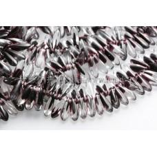 捷克小箭形珠3x10mm水晶深海紅紫-20個