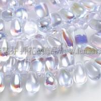 5X10mm捷克水滴形珠-閃亮愛麗絲藍-20個