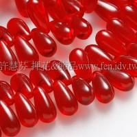 5X10mm捷克水滴形珠-泰國紅寶石紅-20個