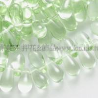 5X10mm捷克水滴形珠-翠橄欖綠-20個
