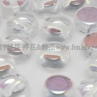 捷克扁圓珠5mm珠光水晶色-10個