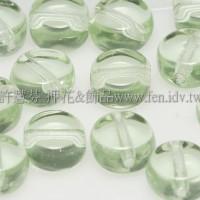 捷克扁圓珠5mm翠橄欖綠-20個