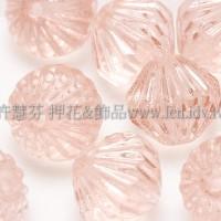 捷克圓切角菱形珠9mm玫瑰中淡粉色-10個