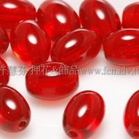 捷克米粒珠6x8mmm泰國寶石紅-20個