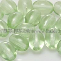 捷克米粒珠6x8mm翠橄欖綠-20個