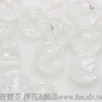 捷克圓形珠6mm冰裂晶亮水晶色