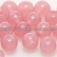 捷克圓形珠6mm蛋白玫瑰粉紅