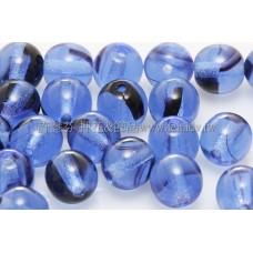 捷克圓形珠6mm水手藍