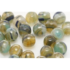 捷克圓形珠6mm松石綠-藍-黃琥珀混合色
