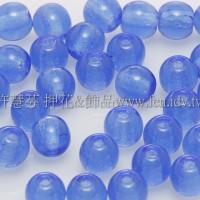 捷克圓形珠4mm亮藍色-50個